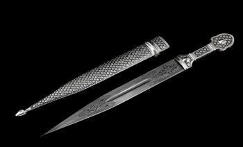 Кинжал серебряный Шиман
