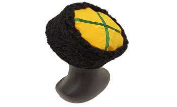 Кубанка из черного каракуля Фисько