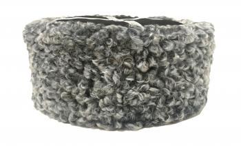 Казачья Кубанка из серого каракуля Миценко из натурального меха