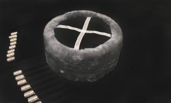 Казачья Кубанка из серого мутона Молька из натурального меха