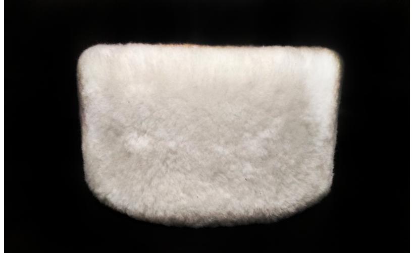 Казачья Кубанка из белого мутона Луценко из натурального меха