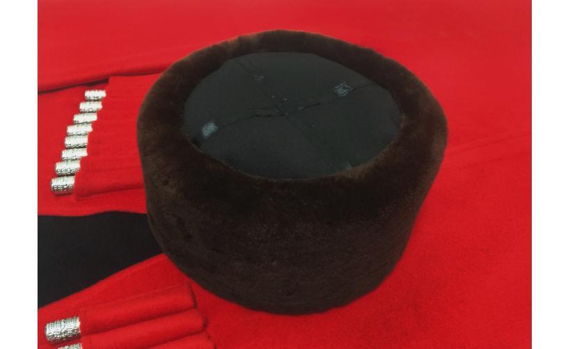 Казачья Кубанка из бурого мутона Опришко из натурального меха