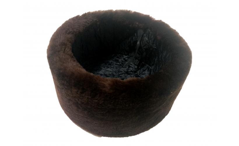 Казачья Кубанка из бурого мутона Ратеннко из натурального меха