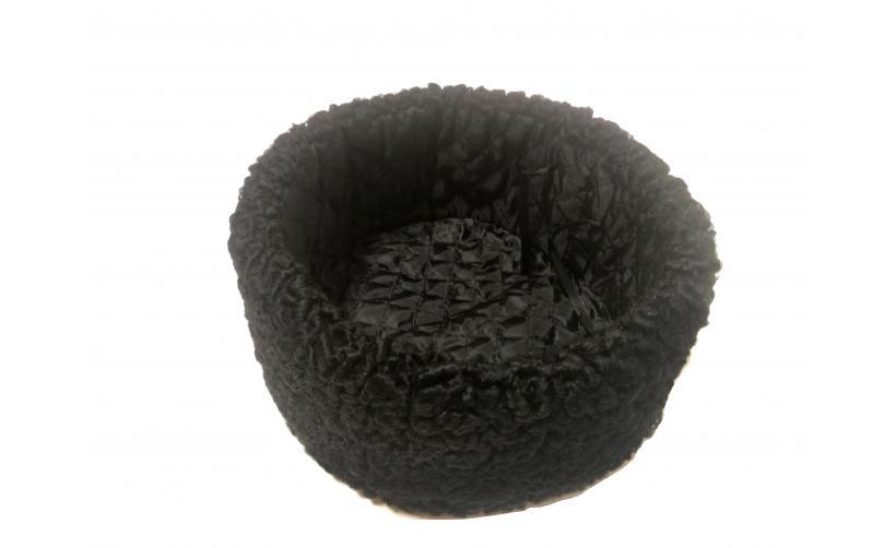 Казачья Кубанка из черного каракуля Чубко из натурального меха
