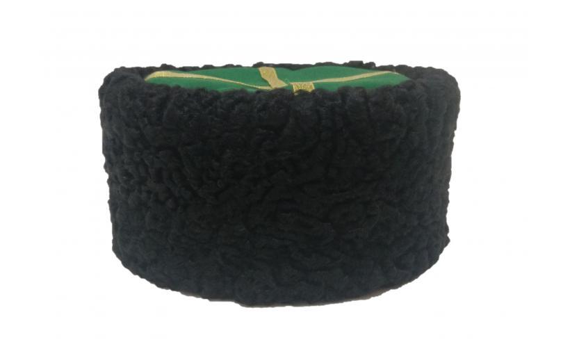 Казачья Кубанка из черного каракуля Циленко из натурального меха