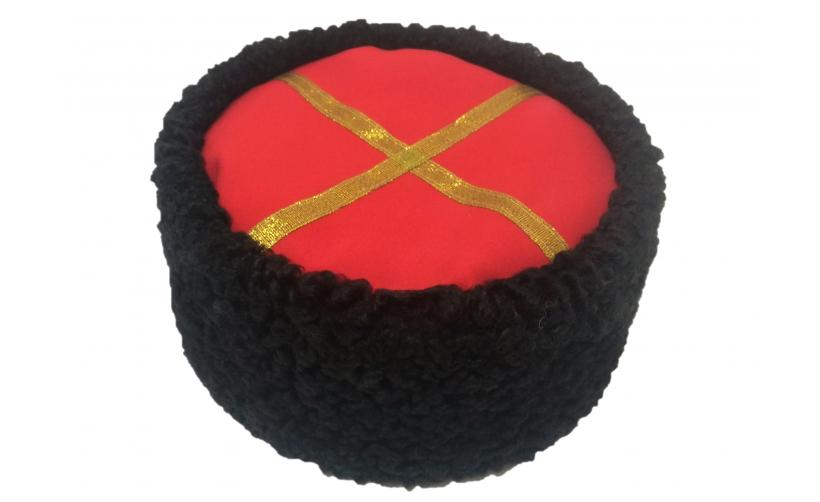 Казачья Кубанка из черного каракуля Маринич из натурального меха
