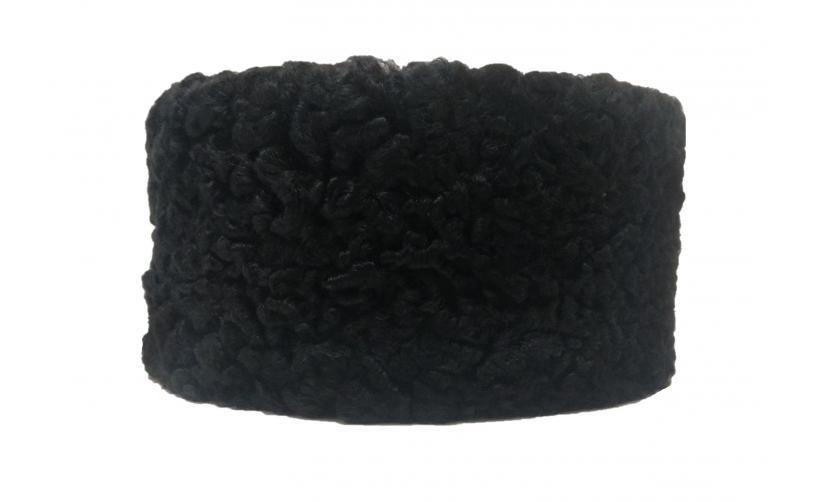 Казачья Кубанка из черного каракуля Пасюк из натурального меха