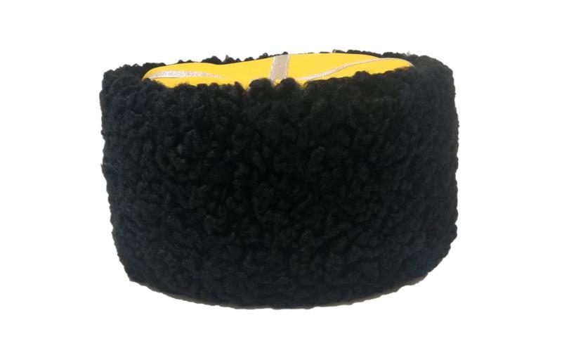 Казачья Кубанка из черного каракуля Телевец из натурального меха