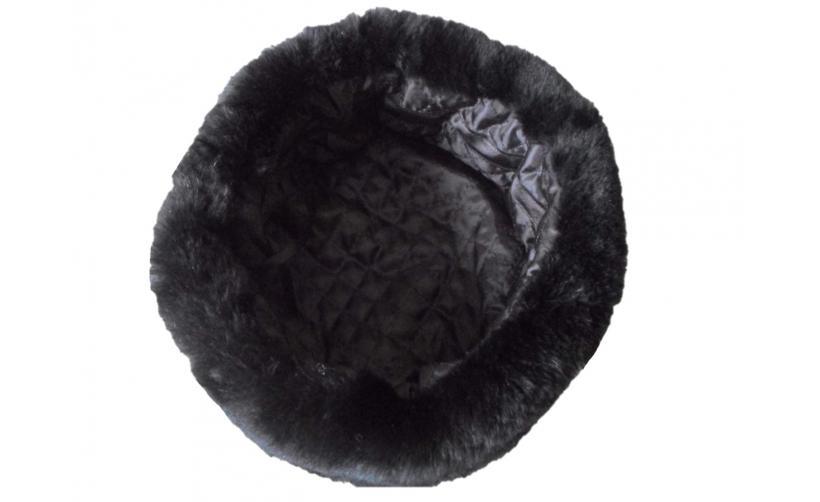 Казачья Кубанка из черного мутона Левченко  из натурального меха