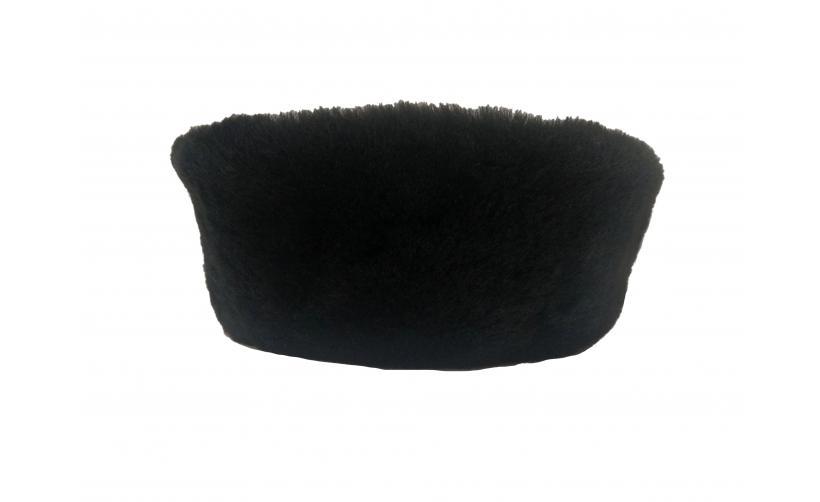 Казачья Кубанка из черного мутона Тюха  из натурального меха