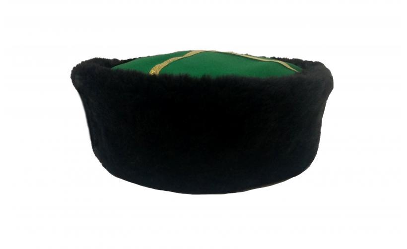 Казачья Кубанка из черного мутона Юрко из натурального меха