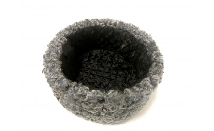 Казачья Кубанка из серого каракуля Кононенко из натурального меха