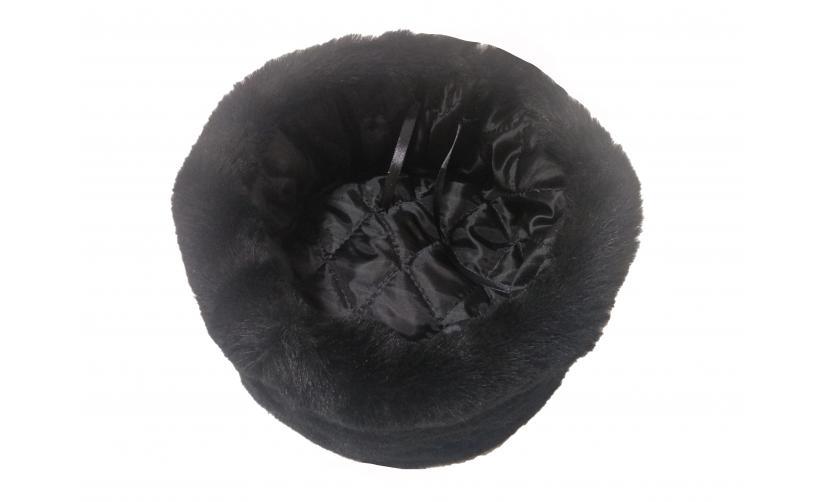 Казачья Кубанка из черного мутона Подкользин из натурального меха