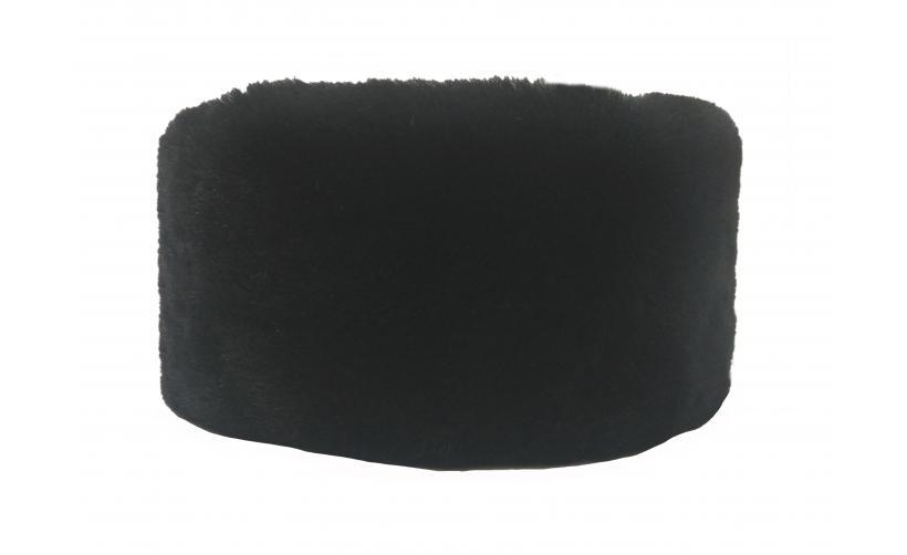 Казачья Кубанка из черного мутона Ручка из натурального меха
