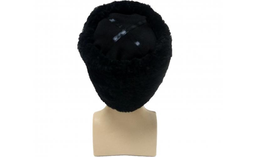 Казачья Папаха казачья из мутона Чорний из натурального меха